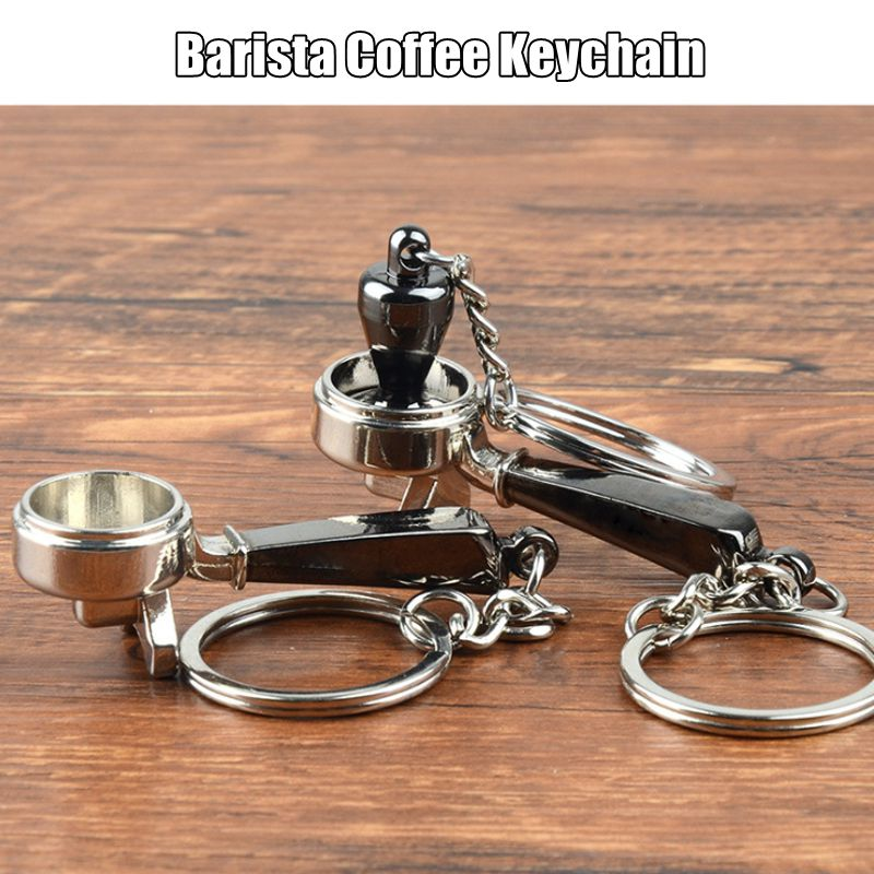 Accessories:  Coffee Tamper Handle Keychain Portable Zinc Alloy Keyring Coffeeware Tools Promotion Espresso Coffee Accessories Barista Gifts - Martin's & Co