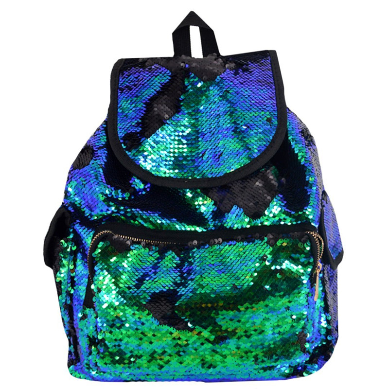 Large Capacity Mermaid Sequins Backpack Double Color Sequins Bag Girls School Bags New Designer Ladies Backpack Mochila Feminina delune new european children school bag for girls boys backpack cartoon mochila infantil large capacity orthopedic schoolbag