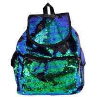 Large Capacity Mermaid Sequins Backpack Double Color Sequins Bag Girls School Bags New Designer Ladies Backpack Mochila Feminina