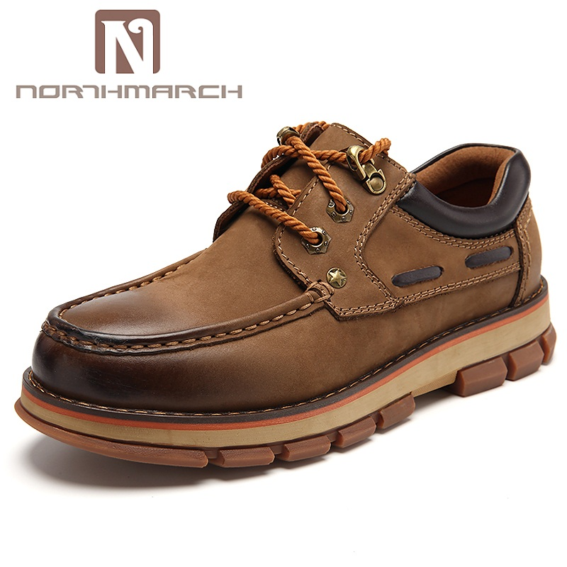 NORTHMARCH New Arrivals Man Shoes Genuine Leather Lace-Up Breathable Casual Men Shoes Wear-Resisting Outdoor Shoe Zapatos Hombre northmarch new arrivals spring genuine leather shoes men breathable sneakers men comfortable casual shoes zapato hombre