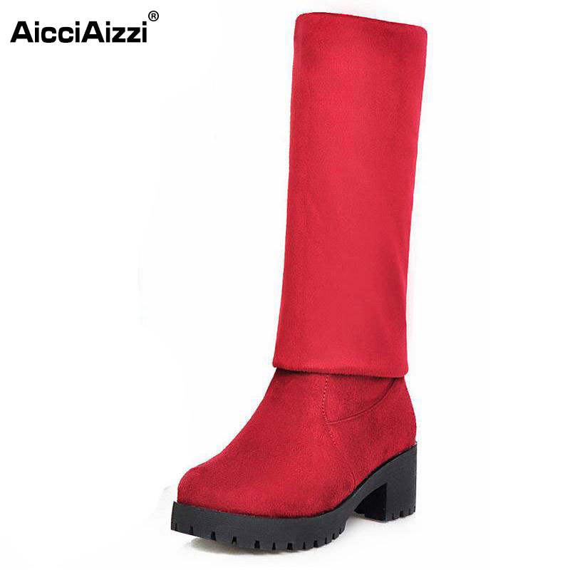 size 34-42 women square high heel over knee boot winter warm fashion british boots knight long botas sexy footwear shoes P21750 enmayer over the knee boots shoes new pu knitting square heel high boots warm snow long boots red brown black knight boots