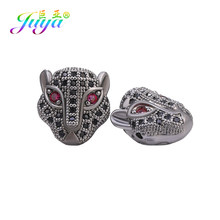 Juya – perles panthère à faire soi-même, fournitures, tête de léopard à petit trou, perles de charme en métal européen, pierres naturelles faites à la main, fabrication de bijoux