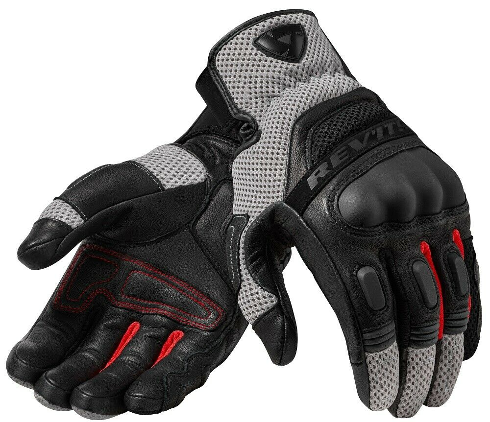 NEW 2019 Revit Dirt 3 Motorcycle Gloves Black-gray Racing Gloves Genuine Leather Motorbike Short Gloves