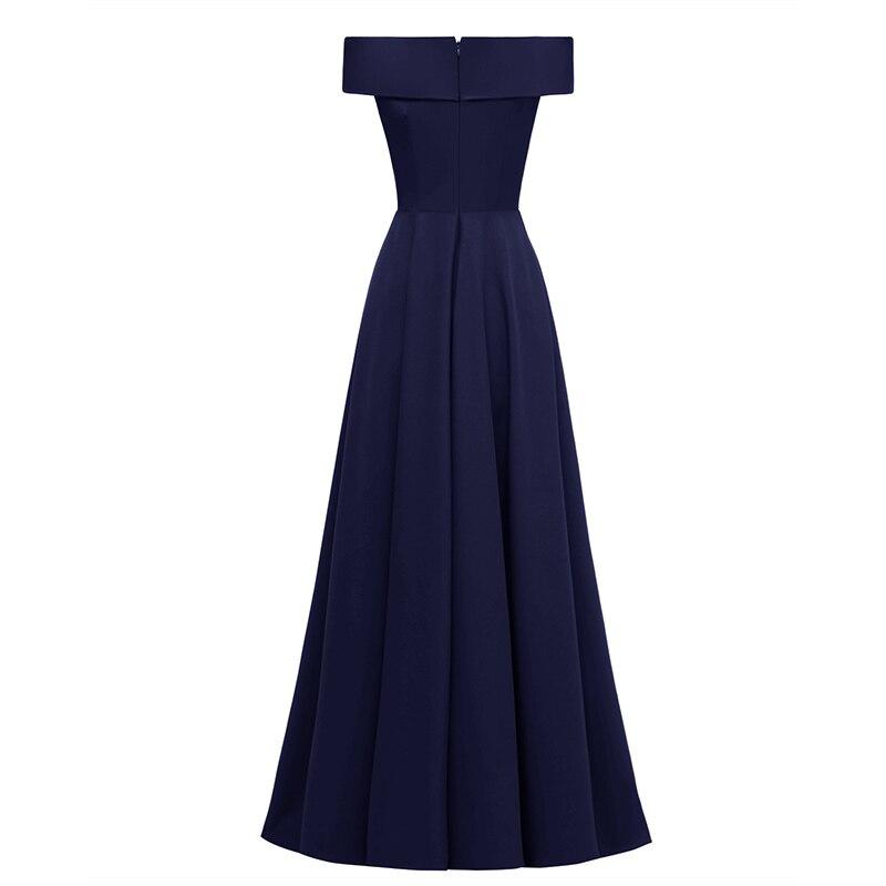Femmes épaule dénudée robe Slim Fit Vintage rétro traînant robe pour soirée XRQ88