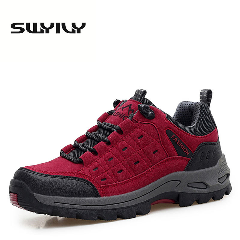 Waterproof Women Hiking Shoes Anti-slip Outdoor Trekking Climbing Sneakers Lacing Hard-wearing All Season Sports Shoes EUR 35-40 пена монтажная mastertex all season 750 pro всесезонная