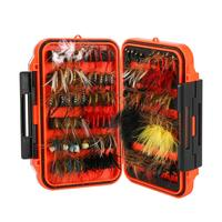Magreel 120pcs/set Fly Fishing Lures Kit with Box, Dry/Wet Flies, Nymphs, Streamers, for Fishing Bass, Salmon, Trout