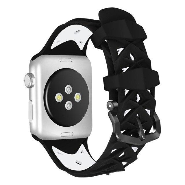 Joyozy силиконовый ремешок для correa Apple Watch 44 мм, 42 мм, 38 мм, 40 мм спортивный ремешок для iwatch серии 4/3/2/1 Резиновые наручные часы