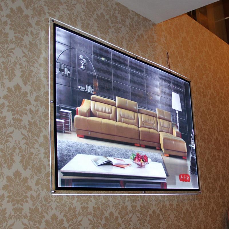 Size Wall Mount Acrylic Poster Frame LED Edge lit