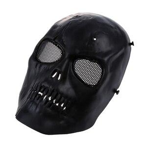 Image 2 - Schedel Skelet Airsoft Paintball Bb Gun Full Face Mask Bescherm Shot Helmen Schuim Gevoerde Binnenkant Zwart Eye Shield Volledige Cover