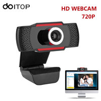 DOITOP HD Webcams High Definition 720P Computer Web Cam Camera Video Record with USB Mic Microphone for Android TV for PC Laptop