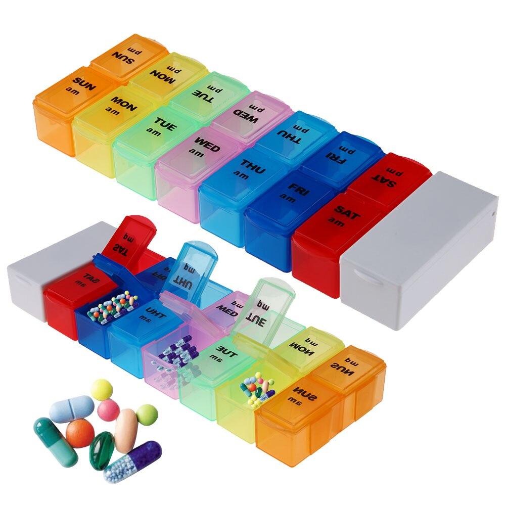 Weekly 7 Days Tablet Pill Box Holder Medicine Storage Organizer Container Case Medicine Storage Pills Organizer Case Pastillero