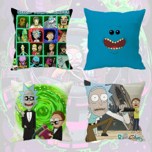 "Wellcomics 16"" inch Cartoon Rick and Morty Pillow Case MEESEEKS Pillow Case Cover Dakimakura Cushion Home Decor Cosplay Costume(China)"