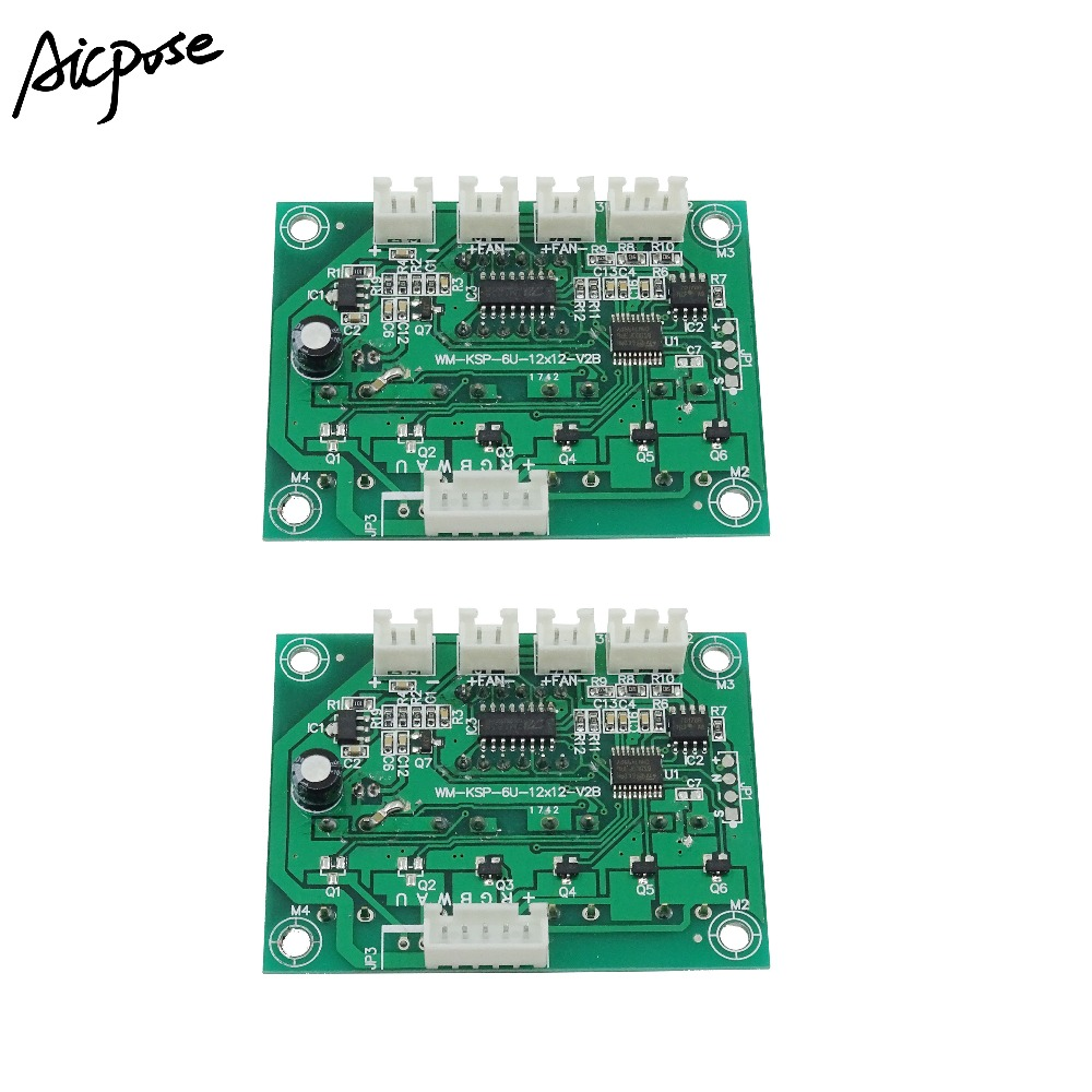 2Pcs/lots Motherboard 4/8 Channel Large Button 7x12W/6x12w/5x12w/12x12w LED PAR Motherboard Voltage 12-36V Par Led RGBW 4 In 1
