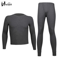 Hot New Cotton Long Johns Winter Thermal Underwear Sets Men Brand Anti Microbial Stretch Mens Thermal