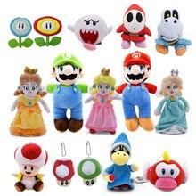 Super Mario Bros приведение бу принцесса Маргаритка персик гриб Toadette Goomba Koopa застенчивый парень сухие кости плюшевые игрушки детские подарки