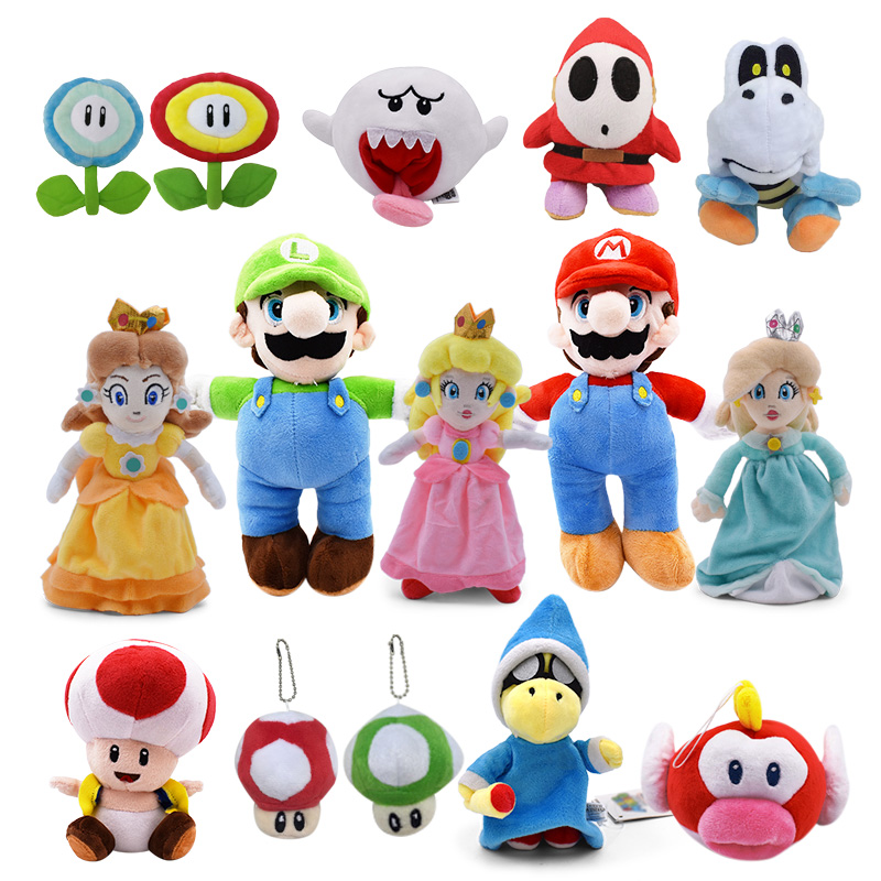 Super Mario Bros Boo Ghost Princess Daisy Peach Mushroom Toadette Goomba Koopa Shy Guy Dry Bones Plush Toys Kids Gifts