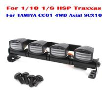 Nueva AX-505 multifunción Ultra Brillante LED Lámpara de luz para 1/10 1/8 hsp traxxas tamiya cc01 axial scx10 4wd rc modelo coche