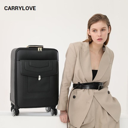 CARRYLOVE fashion luggage series 16/20/24 inch size PU noble Rolling Luggage Spinner brand Travel Suitcase