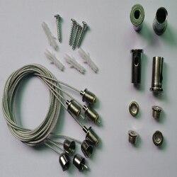 4x akcesoria z drutu stalowego linia z drutu stalowego  lampa wisząca sufitowa panel oświetleniowy lampa wisząca ze stali nierdzewnej
