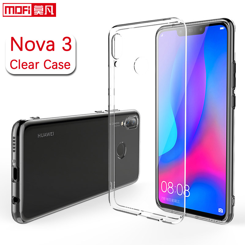 huawei nova 3 case silicone cover back clear mofi transparent ultra thin  TPU case for PAR-AL00 nova3 huawei nova 3 case cover