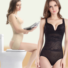 2016 New Sexy Women Full Body Corsets Unique Design Back Off Laides Waist Trainer Body Sculpting Lace Underwear Jumpsuit Gothic
