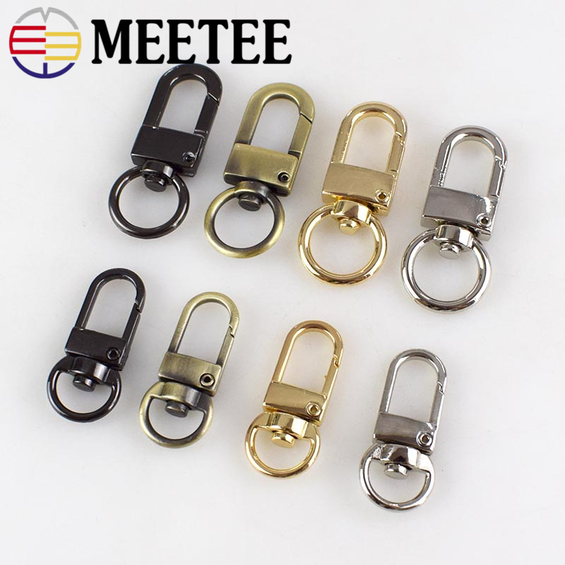 Meetee 30pcs 10/13MM Metal Key Buckle Bag Chain Connecting Dog Hook Hardware DIY Handmade Decoration Accessories AP483