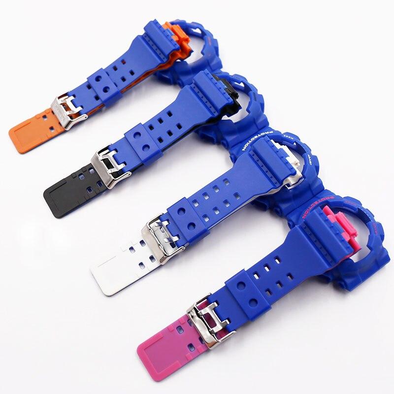 Resina relógio cinta masculina pin fivela acessórios para Casio GSHOCK GA100 GA110 GA120 GD100 GLS cinta cinta caso à prova d' água banda