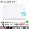 Original Versión Internacional 16CH DS-7116NI-SN/P con 8 PoE Para la Cámara IP HD de Soporte de Actualización Independiente Paquete Colorido