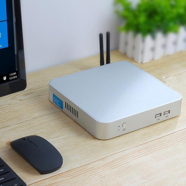 Мини-ПК i7 7500U i5 7200U i3 7100U Windows 10 4 K UHD игровой ПК HDMI HTPC VGA 300 M WiFi Gigabit Ethernet двойное хранилище 5