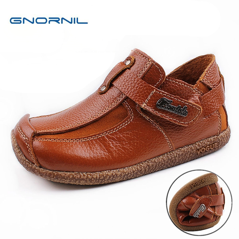 2018 New Kids Shoes Boys Genuine Leather Shoes High Quality Soft Sole Children Casual Shoes Fashion Comfortable Flat Boys Shoes 2018 new genuine leather kids shoes boys mocassins fashion soft children shoes for boys girls casual flat slip on loafers