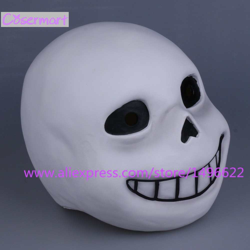 Hot Game Undertale Mask Hard Latex Cosplay Sans Papyrus helmet Full Head Masks Halloween Party Prop (13)