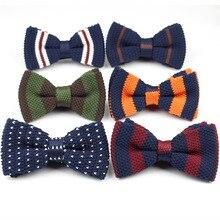 Мужские галстуки для шеи, смокинг, вязаная бабочка, галстук-бабочка, толстые, двухслойные, предварительно завязанные, регулируемые, вязаные, повседневные Галстуки