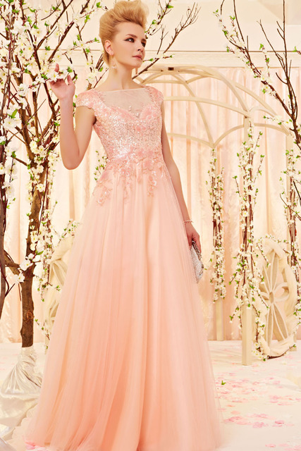 Most Beautiful Prom Dress 2014 New Arrival A Line High Neck Short ...
