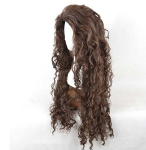 Image 3 - Movie Film Character Bellatrix Lestrange Cosplay Wig Long Brown Curly Heat Resistant Synthetic Hair Costume Wigs + Wig Cap