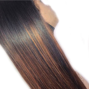 Image 4 - 허니 금발 하이라이트 360 레이스 정면 폐쇄 가발 preplucked 스트레이트 레미 브라질 레이스 프런트 인간의 머리 가발 여성을위한