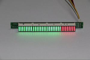 Image 1 - 32 LED מוסיקה חשמל מחוון רמת VU מטר מד אודיו עבור מגבר לוח מתכוונן אור מהירות לוח AGC מצב