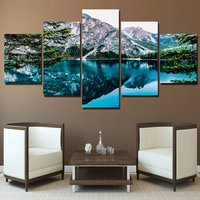5 Panel Posters And Prints Painting Wall Art Valley Lake Canvas Art Painting Wall Pictures For Living Room Art Poster