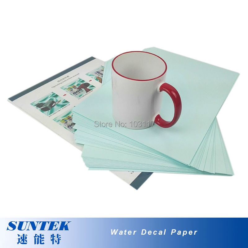 (50pcs/lot)   Laser  Blue Backing Water Transfer Printing Decal Paper A4 Waterslide Decal Paper  for Glass, Ceramic, Candles-in Painting Paper from Office & School Supplies    2