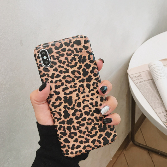 Leopard Phone Case For iphone - Luxury Soft Cases Matte Capa 2