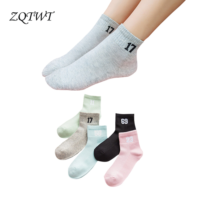 Zqtwt 5pair Lot Fashion Figure Socks Women Cute Animal Cotton Meias
