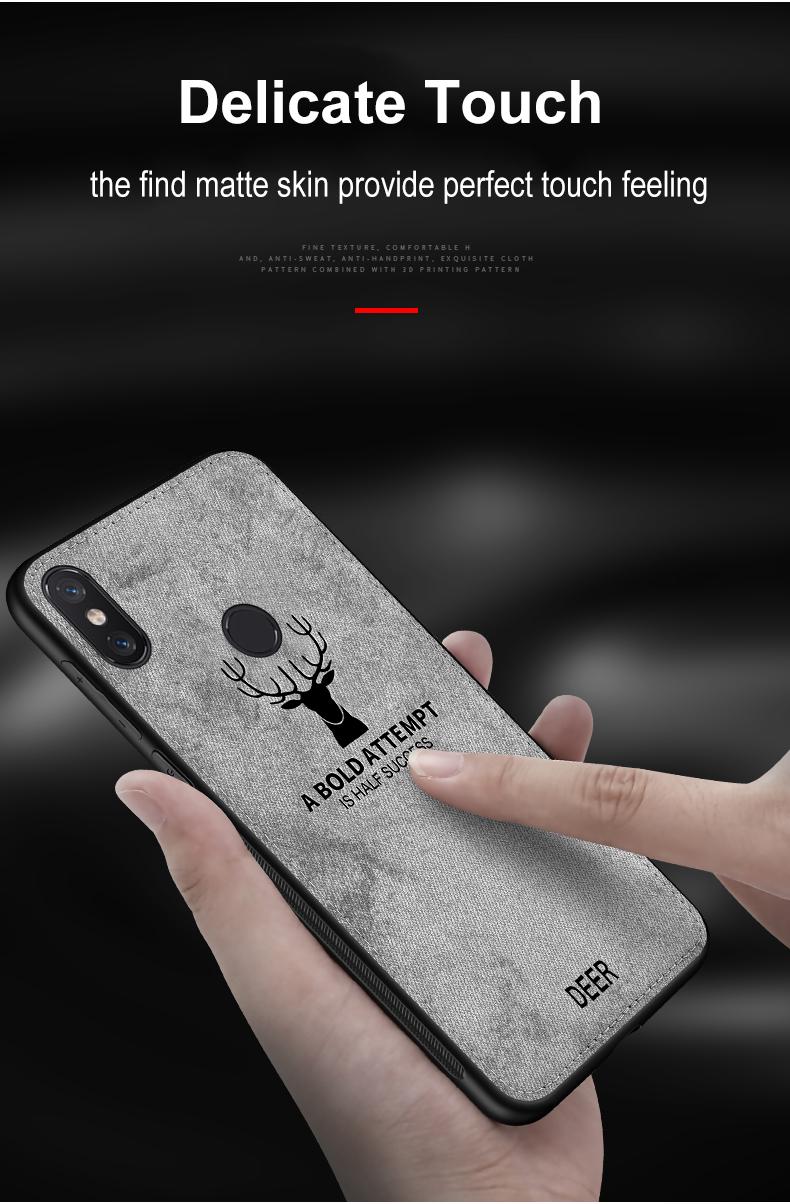 , Fabric Case for Xiaomi Pocophone F1 Classic Cloth Matte Skin Soft Hard Back Cover for Xiomi Xiaomi Mi Max 3 2 Mi 5 6 Phone Cases