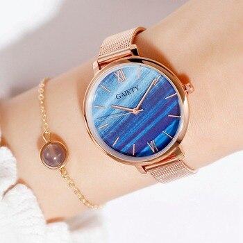 Gaiety Luxury 2 PCS Set Watch Women Rose Gold Water Drill Bracelet Watch Jewelry Ladies Female Hour Casual Quartz Wristwatches 10