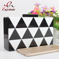 New design black and white striped wave acrylic party purse daily clutch bag evening bag ladies mini  shoulder bag handbag