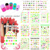 2015NEW 90 UNIDS/LOTE YG001-132 Fluorescente pasta de agua Diseños de Uñas agua pegatinas para las uñas