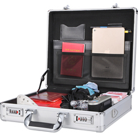 portable small Aluminium Tool Case Heavy Duty tool trolley abs flight case with shoulder belt