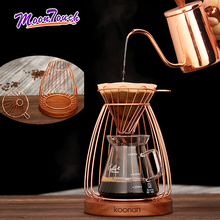 Brewing Coffee Filter Cup Holder Nest Shape Hand Drip Rack Rose Gold Household Filter Cup Bracket Set Coffee Pot Filter Shelf stainless steel vietnamese coffee pot drip coffee machine filter type brewing teapot no need paper filter coffee cup