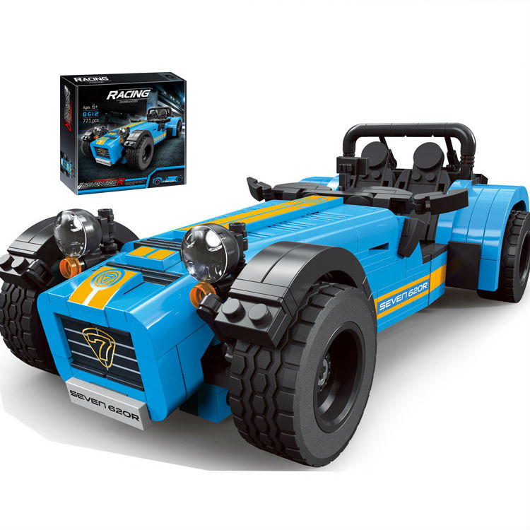 Compatible LegoINGlys Technic 8612 8613 ideas racers Caterham Seven 620R Sports Car And F430 Sports Model Blocks Toys Gift