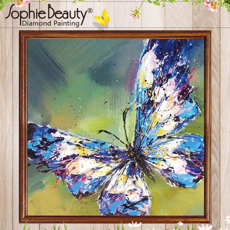 Colorful Butterfly DIY 5D Diamond Painting Full drill Fashion Home Decor //449