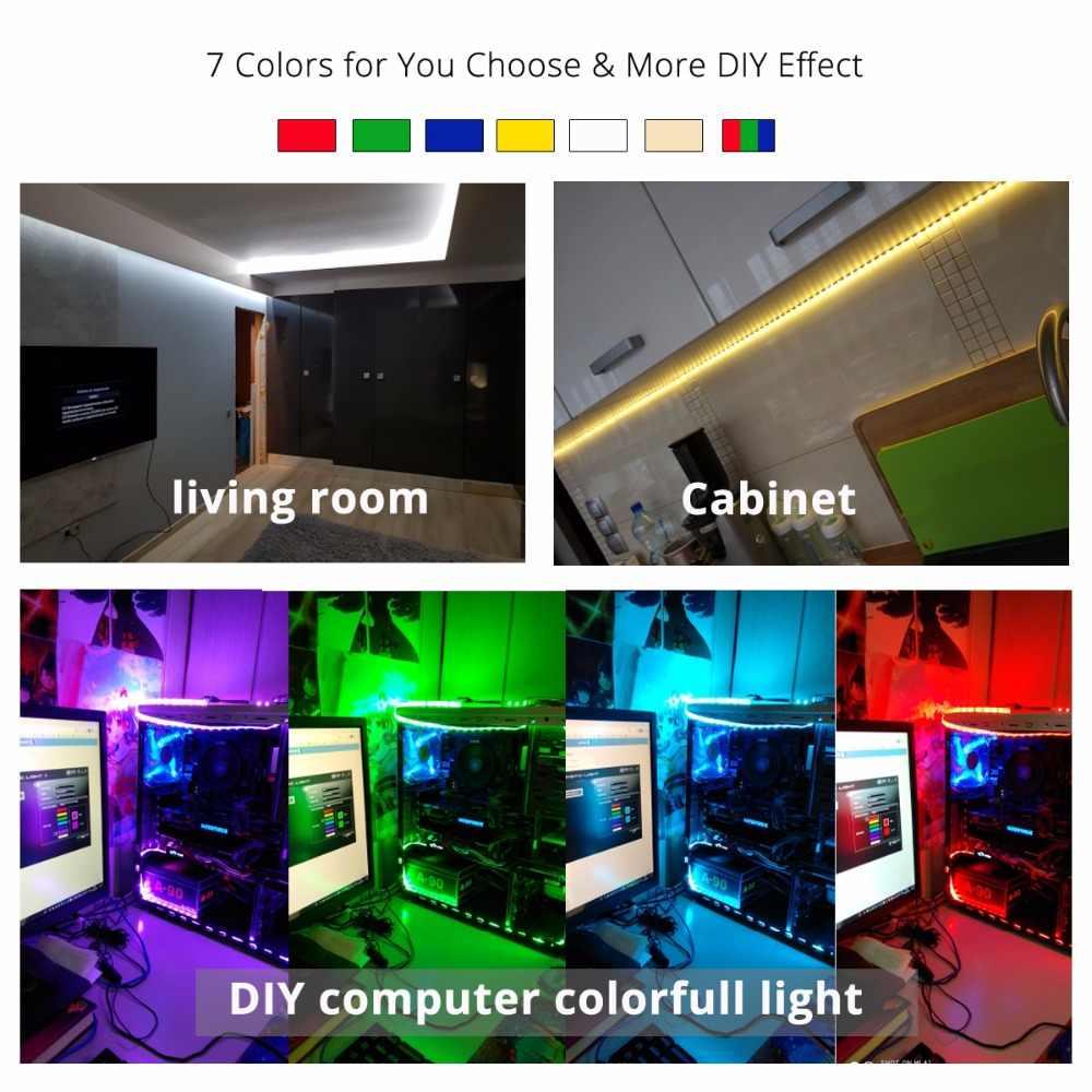 LED Tidak Tahan Air Strip SMD 5050 LED 5M DC12V Fleksibel Tabungan Cahaya String Lampu Baru Rumah Tangga Natal