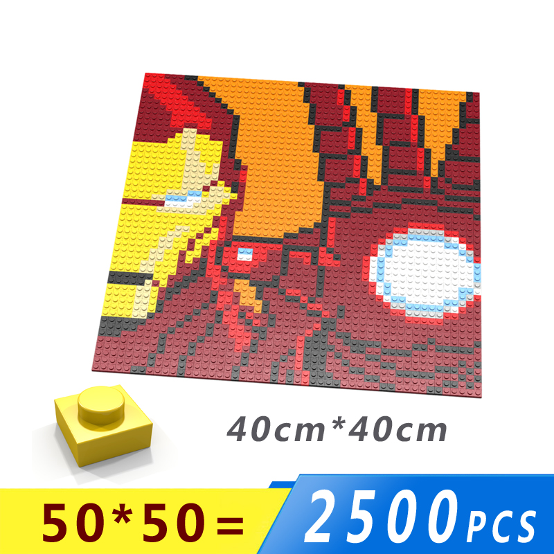 Us 203 30 Offiron Man Isometric Pixel Art Bricks 1x1 Mini Square Building Blocks Wall Portraits Diy Home Decoration Compatible With Lgoes In